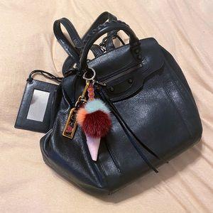 Auth. Balenciaga Black Arena Traveler Backpack